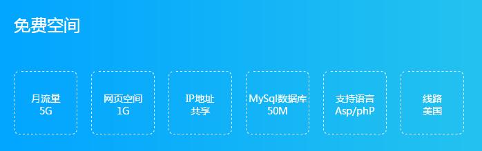 免费1G ASP/PHP+MySql空间-主机屋